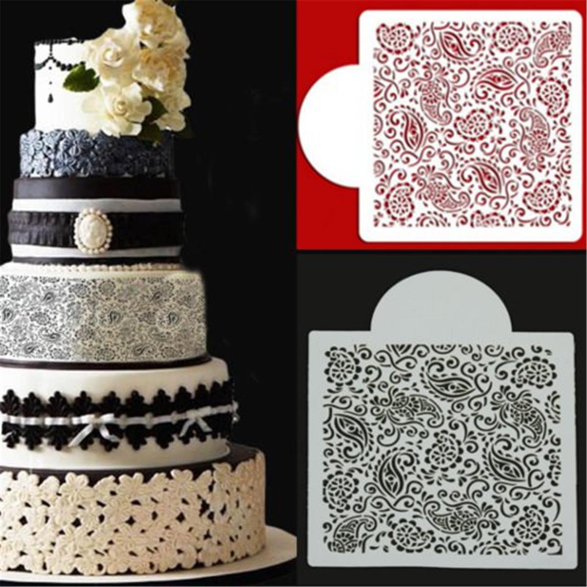 Цветок Fondant инструменты сторона торт плесень границы трафарета декорирование Sugarcraft выпечки