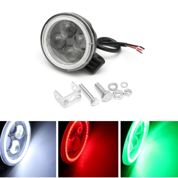 12V 180lm Motorcycle Projector 4 LED Headlight Ca