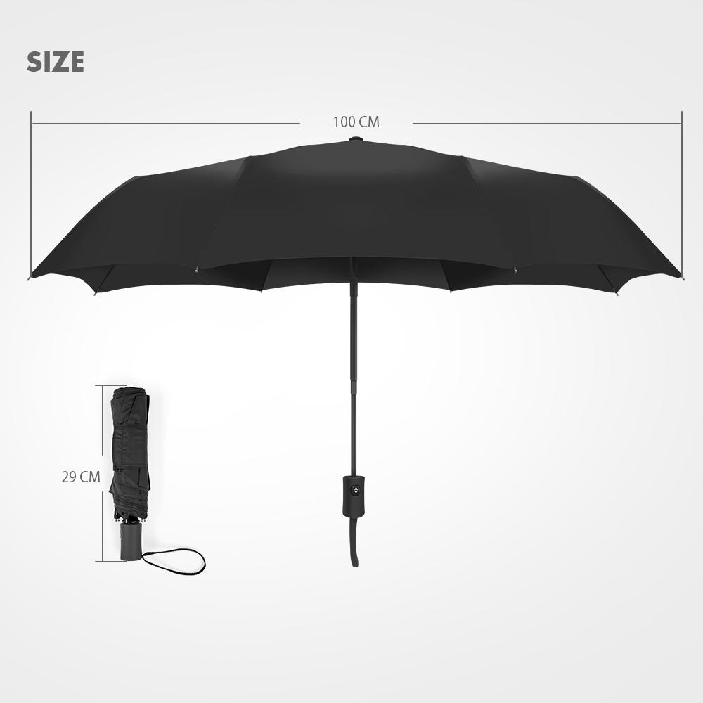 Jiu Jitsu Triangle Automatic Tri-Fold Umbrella Parasol Sun Umbrella Sunshade