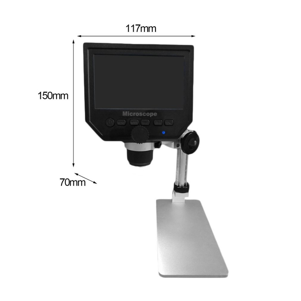 Mustool G600 Digital 1-600X 3.6MP 4.3inch HD LCD Display Microscope Continuous Magnifier Aluminium Version