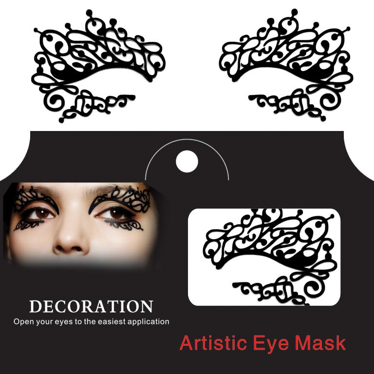 Хэллоуин Squishy Eye Liner Sticker Lace Fretwork Papercut Face Тату Временный костюмный вечер