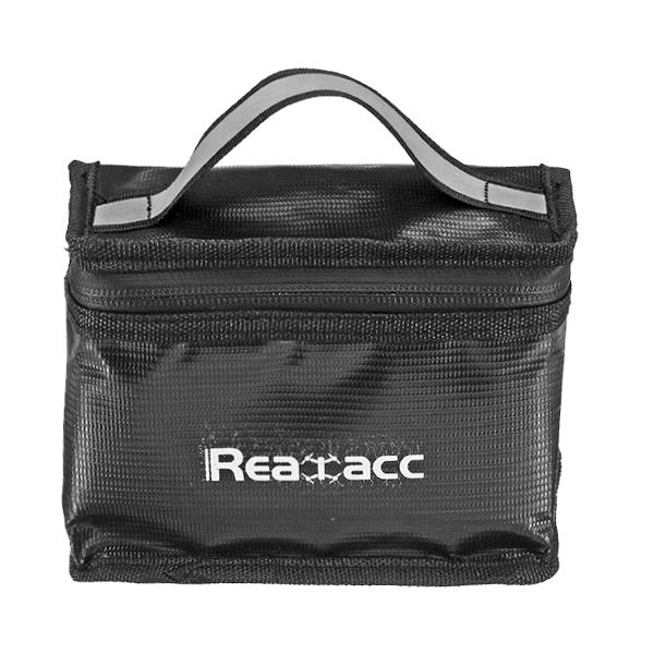 Bolsa de seguridad de batería de lipo impermeable a prueba de fuego Realacc (155x115x90mm) con mango luminoso