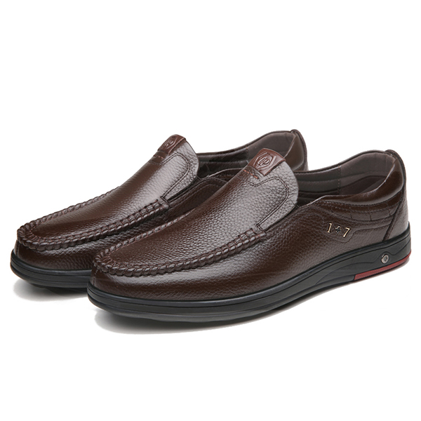 Men Comfy Casual Business Genuine Leather Oxfords