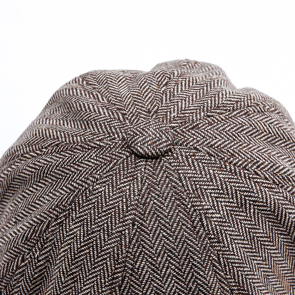 536b2305b Men Middle-aged Cotton Newsboy Hunting Hat Solid Warm Beret Caps Short Brim  Peaked Cap