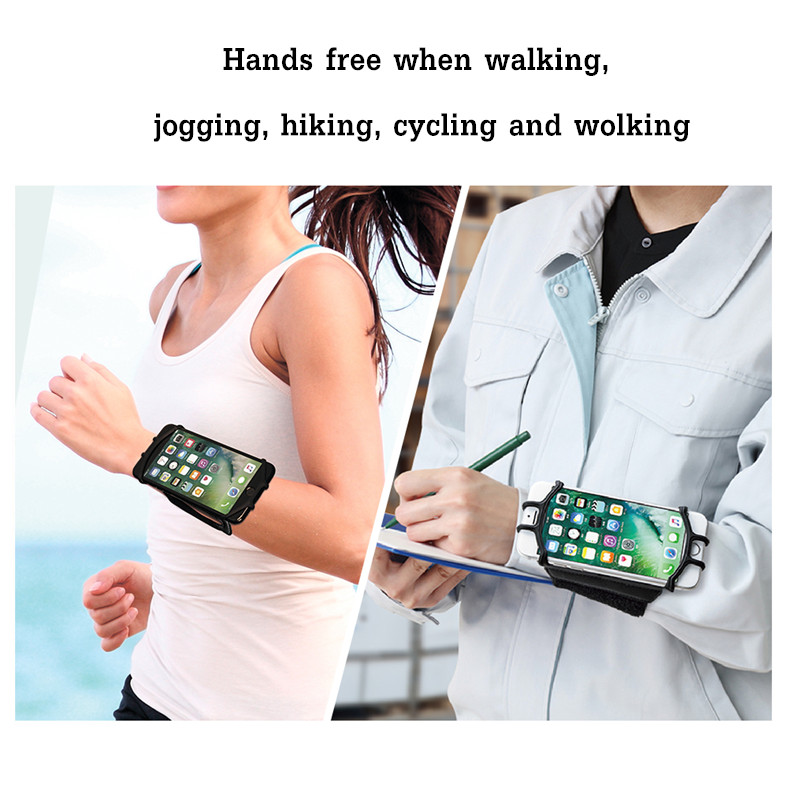 VUP 180° Rotation Sport Running Cycling Adjustable Wrist Arm Band Bag For 4-6 Inches Smartphone