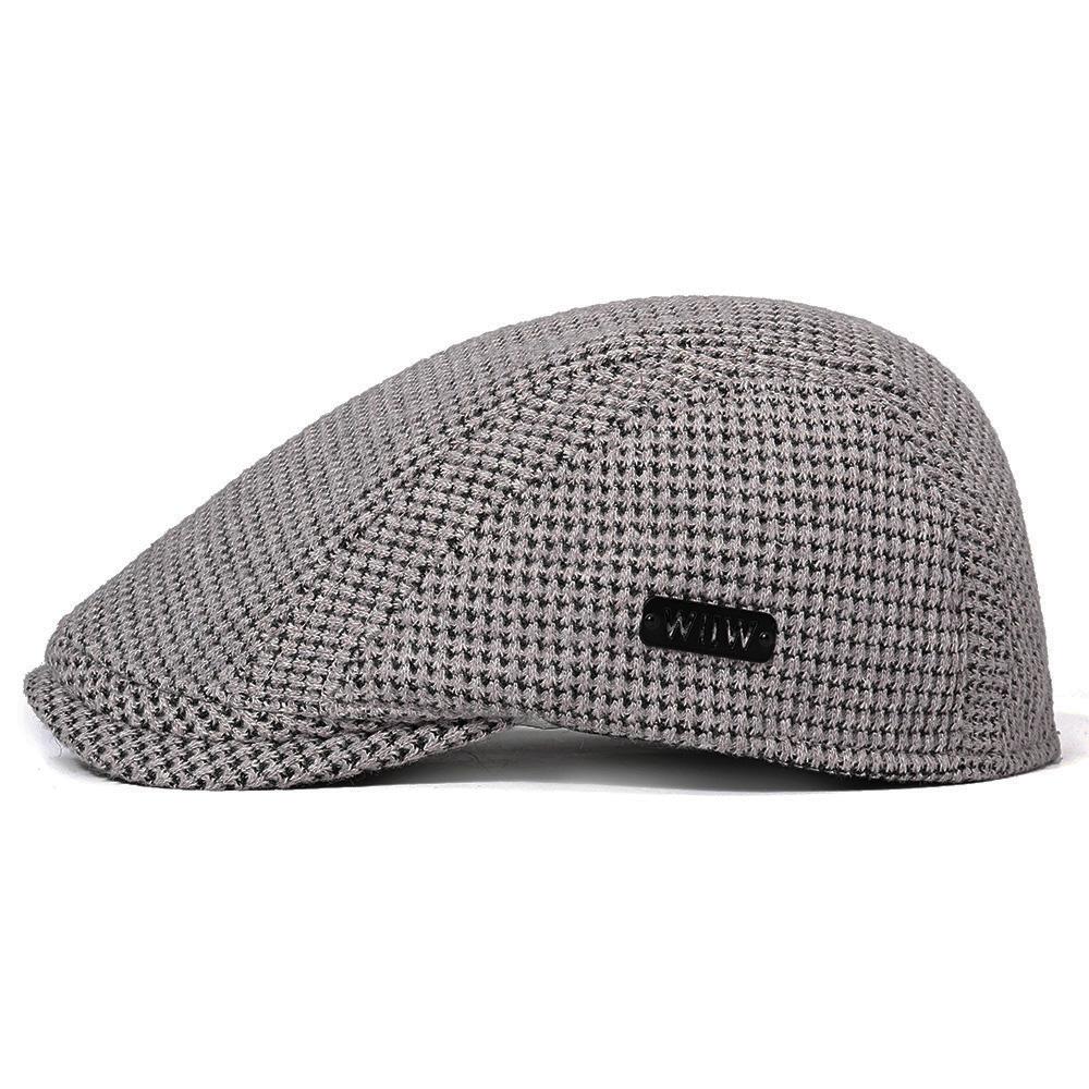 42a5b9172 Unisex Mens Cotton Gatsby Beret Cap Golf Driving Flat Cabbie Newsboy Hat