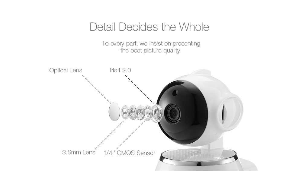 DIGOO BB-M1 720P HD Baby Monitor Smart Home WiFi IP Camera Two-way Audio NETIP