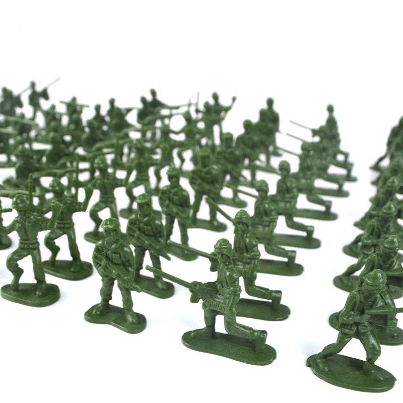 YC 998-3 100шт 5см солдат армии войск фигура битва войны модель поделки сцена