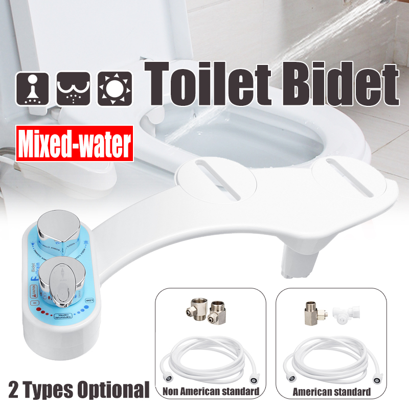 Remarkable Toilet Bidet Hot Cold Water Dual Spray Non Electric Mechanical Self Cleaning Adjustable Angle Bidet Toilet Device Caraccident5 Cool Chair Designs And Ideas Caraccident5Info