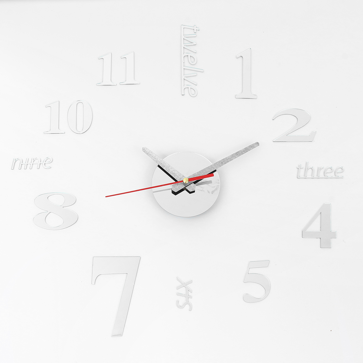Details about 40cm Modern 3D Frameless Wall Clock Style Watches Hours DIY Room Home