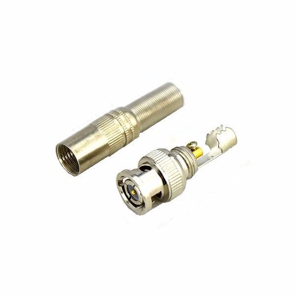 Мужчина BNC разъем для RG-59 коаксиальный кабель латуни конец обжимной кабель не завинчивания камеры видеонаблюдения без сварки