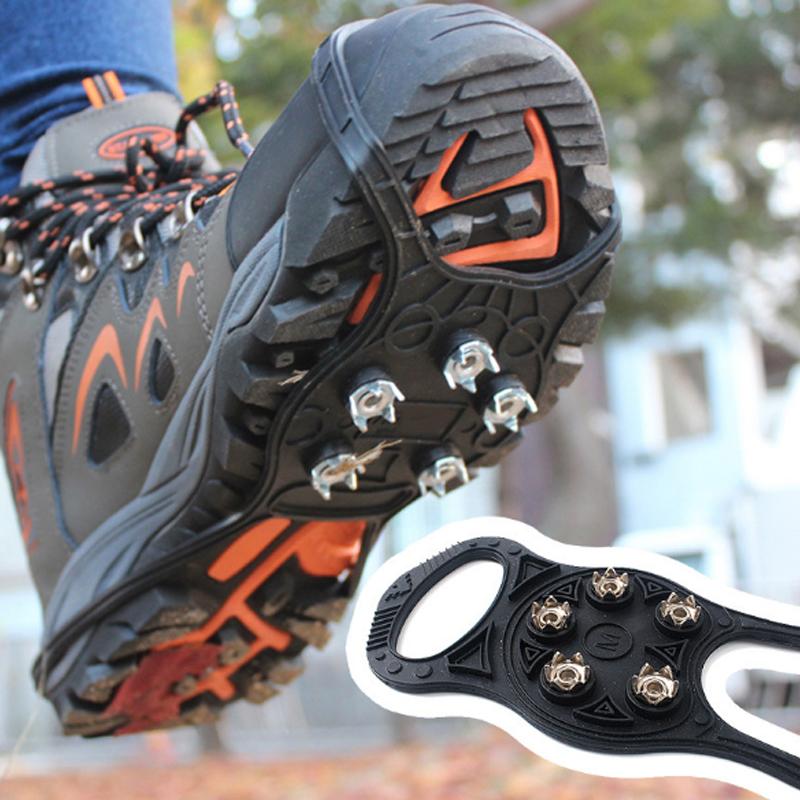 На открытом воздухе 5 Зубы 8 Тип Кошки Антискользящие нескользящие туфли Обложка Снег Город Ногти Набор