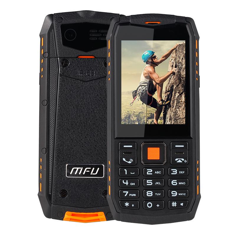 MFUA903S3GNetworkIP68Водонепроницаемы 2,8 дюйма 2700 мАч True Wireless Bluetooth FM GPRS Двойной камера Двойной SIM-карта Функция телефона