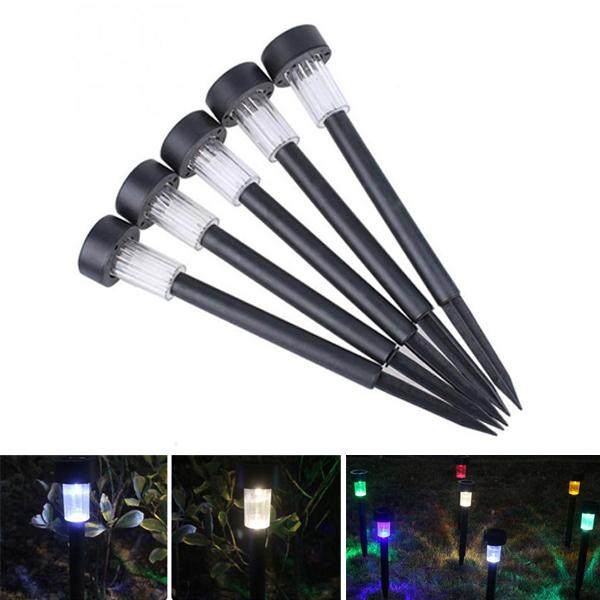 Солнечная Powered Plastic LED Газонный свет Водонепроницаемы На открытом воздухе Сад Пейзажный двор Лампа