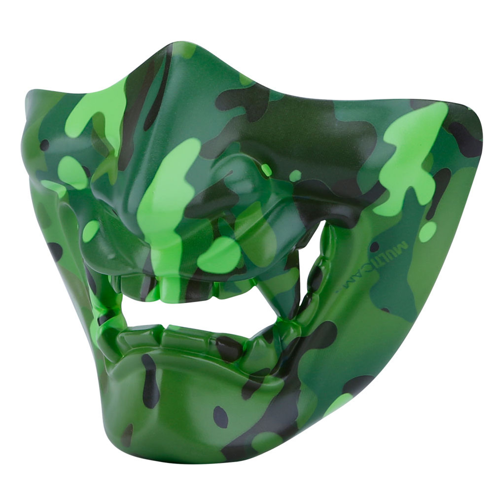 WosporT Tactical Outdoor CS Game Noctilucent Half Face Mask Party Halloween Cosplay Mask