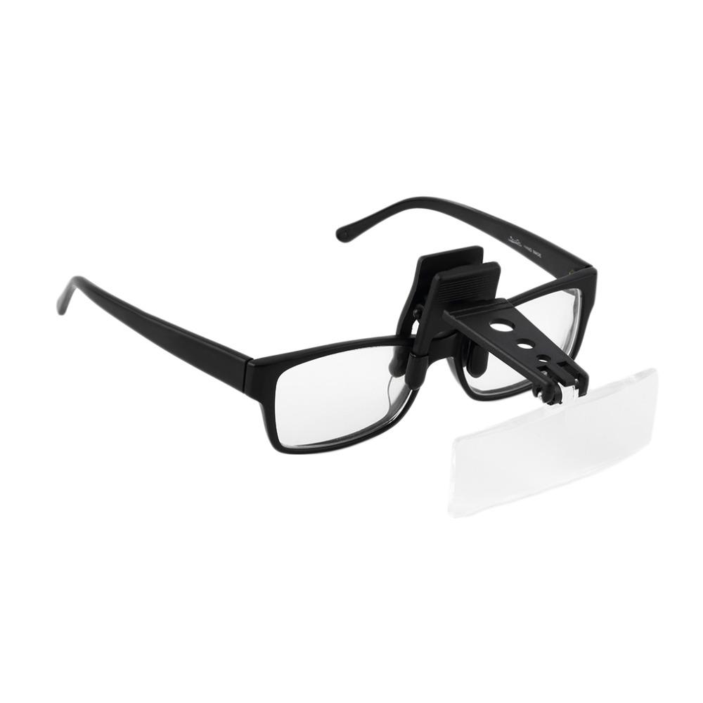 Складные очки для клипа на флип-лупе Увеличительное стекло для рук Бесплатная точная лупа Creative Дизайн
