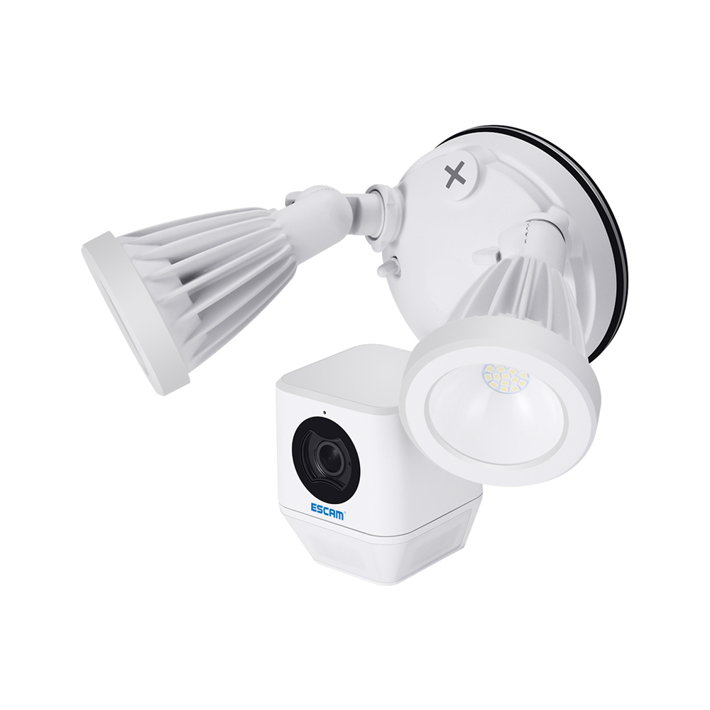 ESCAM QF608 1080P LED Floodlight WiFi IP Camera PIR Detection Alarm HD Security Two Way Talk Remote S iren Support ONVIF Night Vision