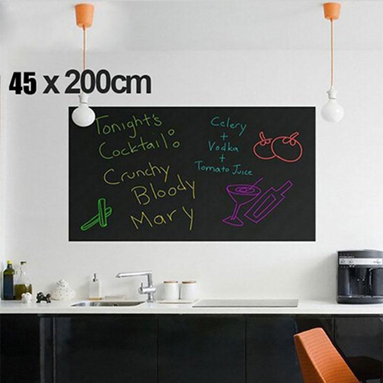 45x200cm Стены Стикеры Съемный классной доски Детская комната Декор Наклейка наклейки Сделай сам Обои Decal