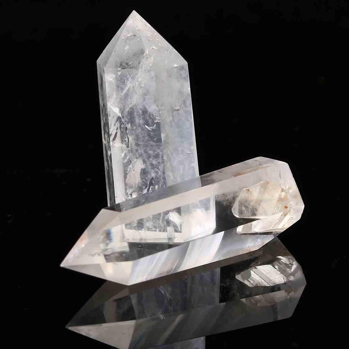 2pcs transparente klare heilende Samen Rock Quarz Kristall Wanddekoration