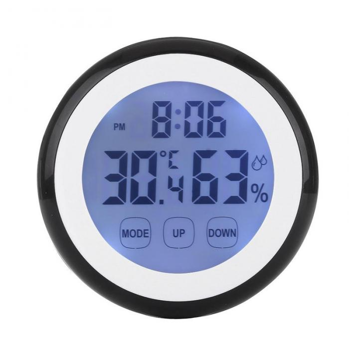 Touch Screen Thermometer Humidity Minitor Hygrometer Sensor with Alarm Clock High Quality