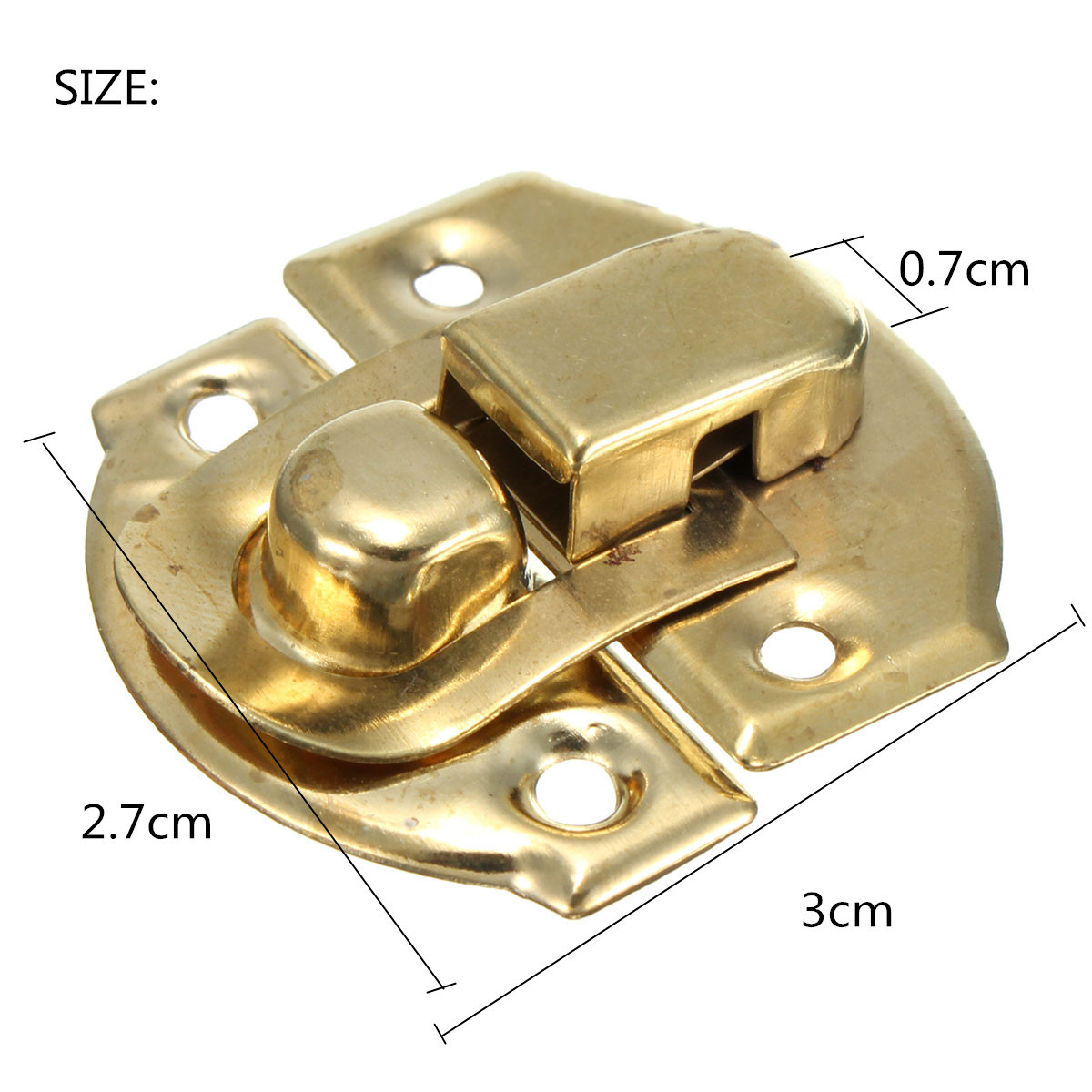 Cigar Jewellery Box Toggle Catch Antique Style 1x Mini Thumb Size Brass Latch