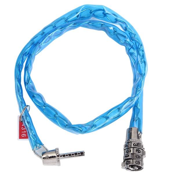 Четырехзначный стали безопасности кодовый замок велосипеда мотоцикл пароль кабель