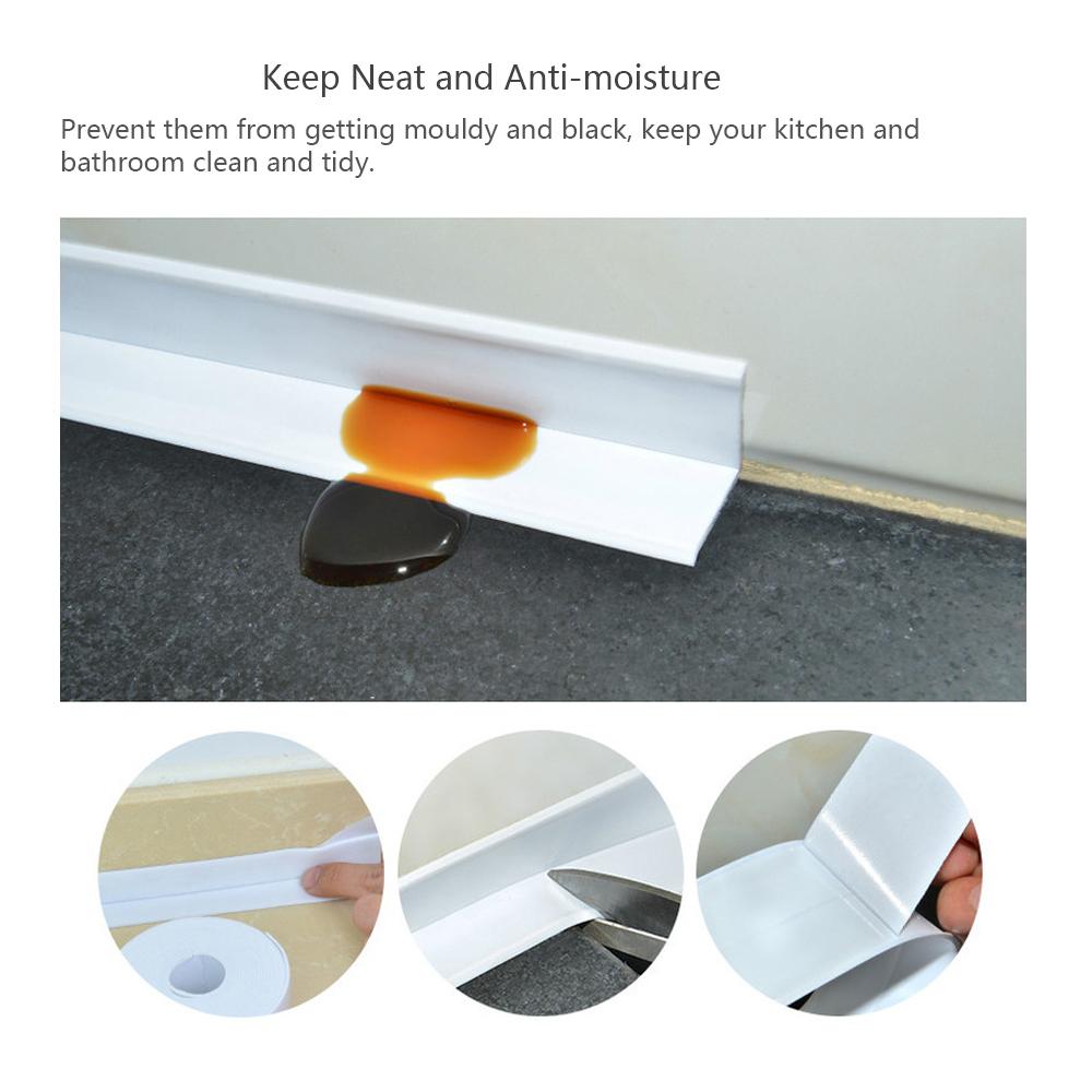 Honana 3.8mm Kitchen Bathroom Self Adhesive Wall Seal Ring Tape Waterproof Tape Mold Proof Edge Trim Tape Accessory 12