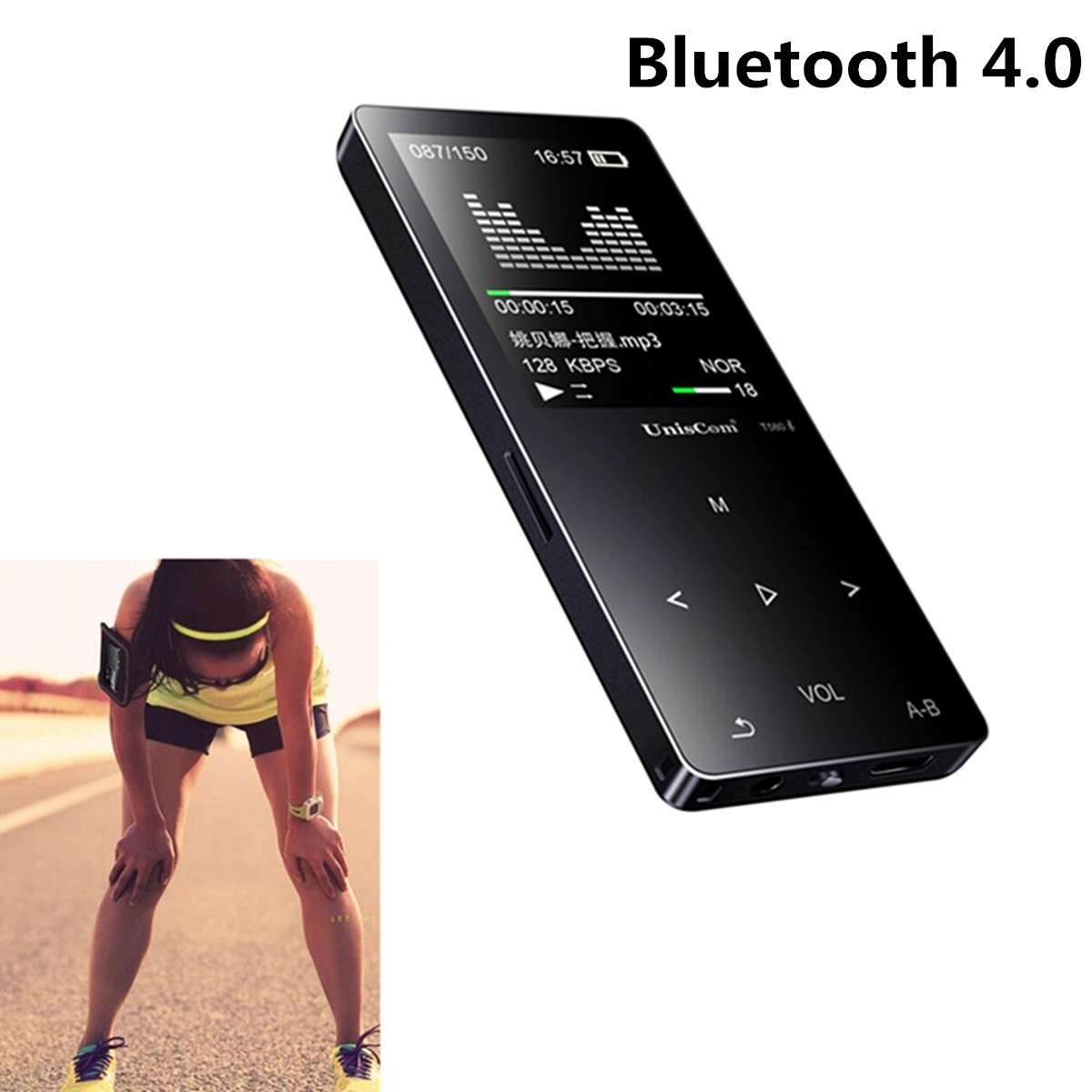 Uniscom 8G 1.8 Inch Screen bluetooth Lossless HIFI MP3 Music Player Support A-B Repeat Voice Record 8