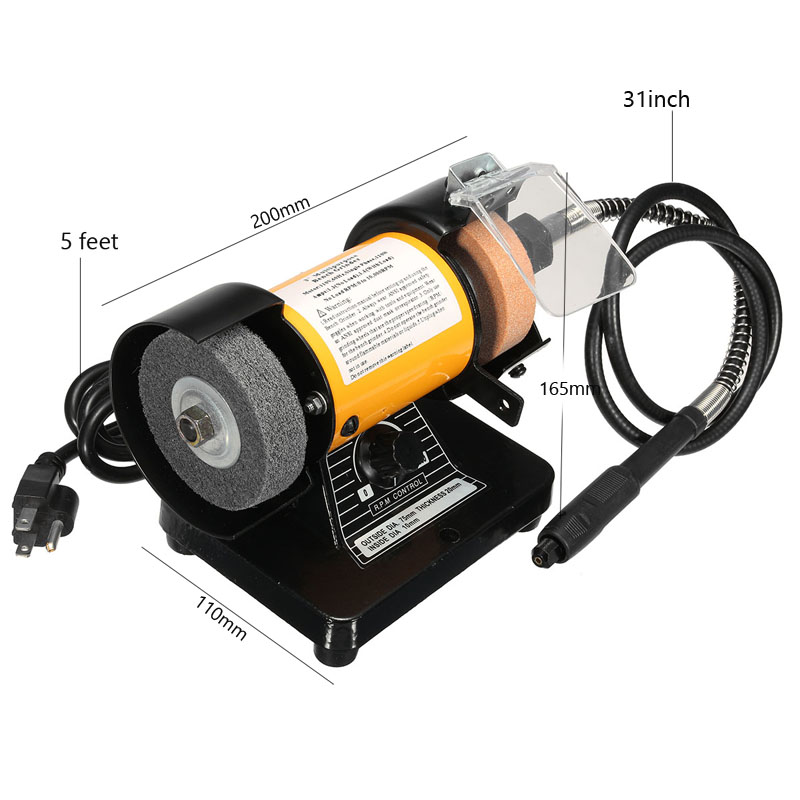 Strange 110V Ac 3 Inch Mini Bench Grinder Flexible Shaft Rotary Grinder Polisher Tool Squirreltailoven Fun Painted Chair Ideas Images Squirreltailovenorg