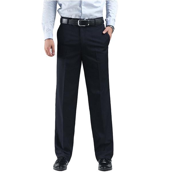 Черный Тонкий Прямой костюм Брюки Мужские Платье Брюки