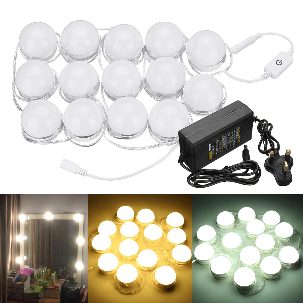 AC100-240V 14PC Голливудский Стиль LED Зеркало Vanity Light Набор для Макияж Туалетный Столик + UK Plug