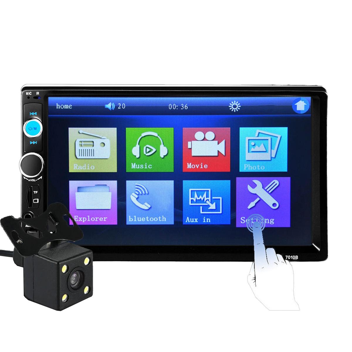 iMars 7010B 7 дюймов 2Din Авто MP5 Player IPS Bluetooth с сенсорным экраном и стерео FM Радио, вид сзади камера