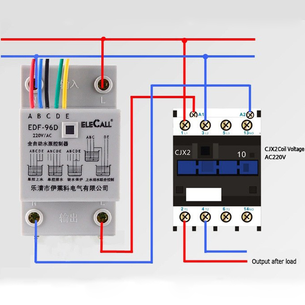 DF96D AC220V 5A Din Rail Mount Float Switch Auto Water Level Controller on