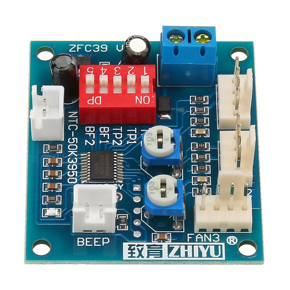 DC 12V Four Wire Thermostat PWM PC CPU Fan Temperature Control Speed  Controller Module