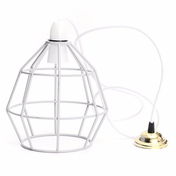 b22 vintage industrial style metal cage wire frame ceiling pendant light lamp shades 110