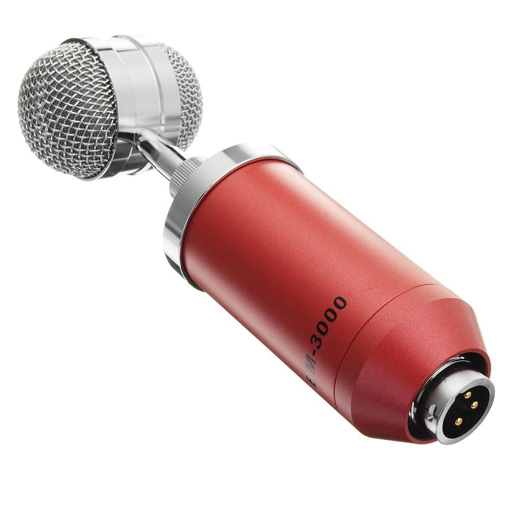 BM-3000 Studio Recording Condenser Microphone Metal Shock Mount for ASMR