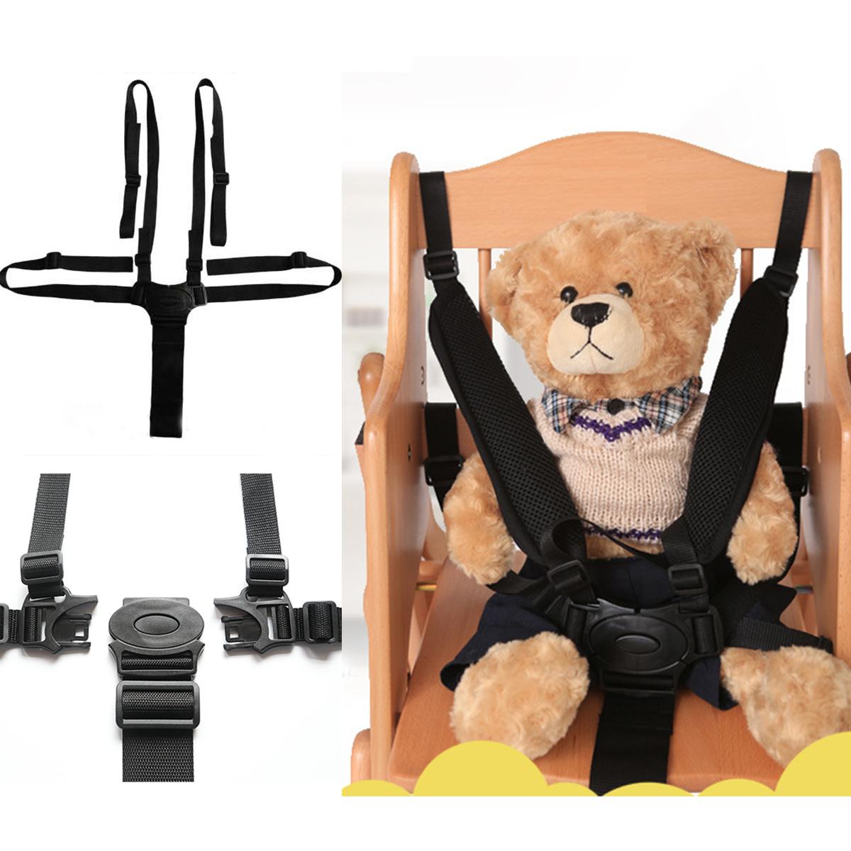 Переносная детская коляска для колясок Пятиточечная ремня безопасности Прогулочная коляска 5-точечная коляска с ремнём безопасности фото