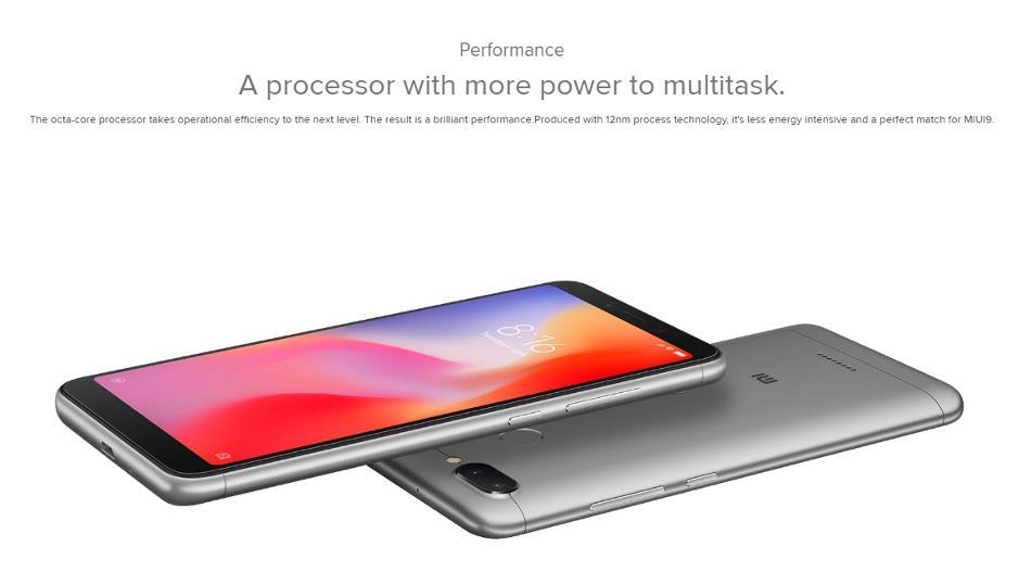Xiaomi Redmi 6 Global Version 5 45 inch 3GB RAM 32GB ROM Helio P22 Octa  core 4G Smartphone
