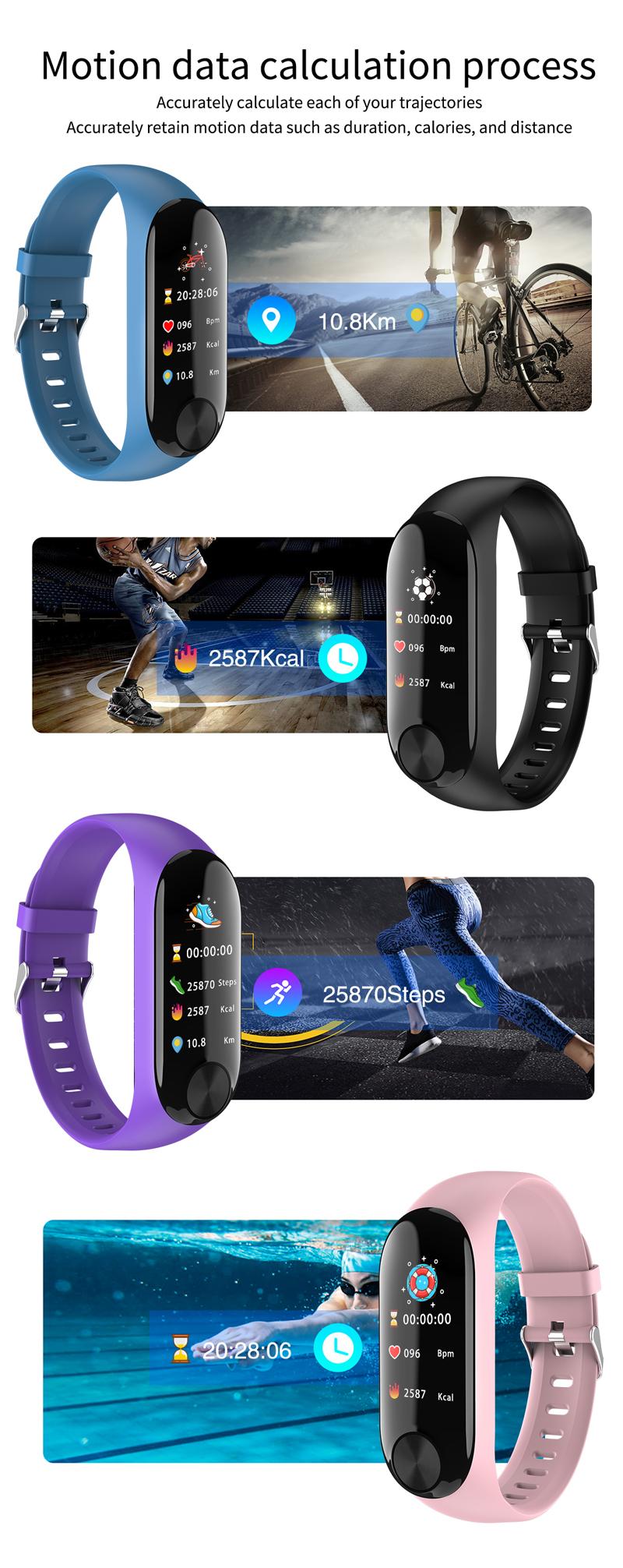 XANES Y10 Color Screen IP67 Waterproof Smartwatch Heart Rate Monitor Message Push Sports Fitness Sports Bracelet