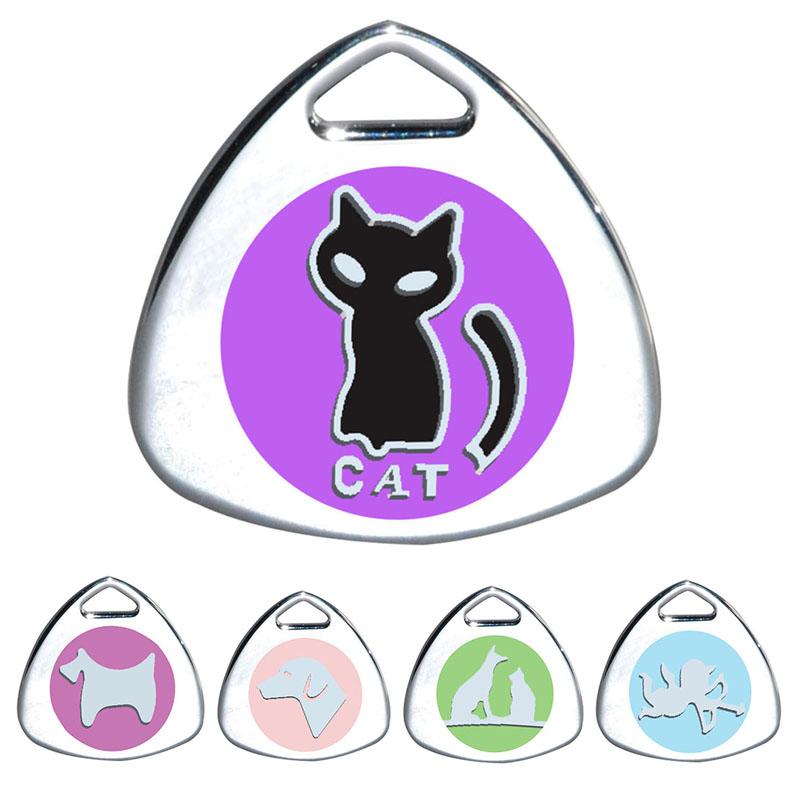Eachine1 / Gato etiqueta personalizada grabado Perro etiquetas de identificación collar de mascota Colgante para gatito juguetes para mascotas
