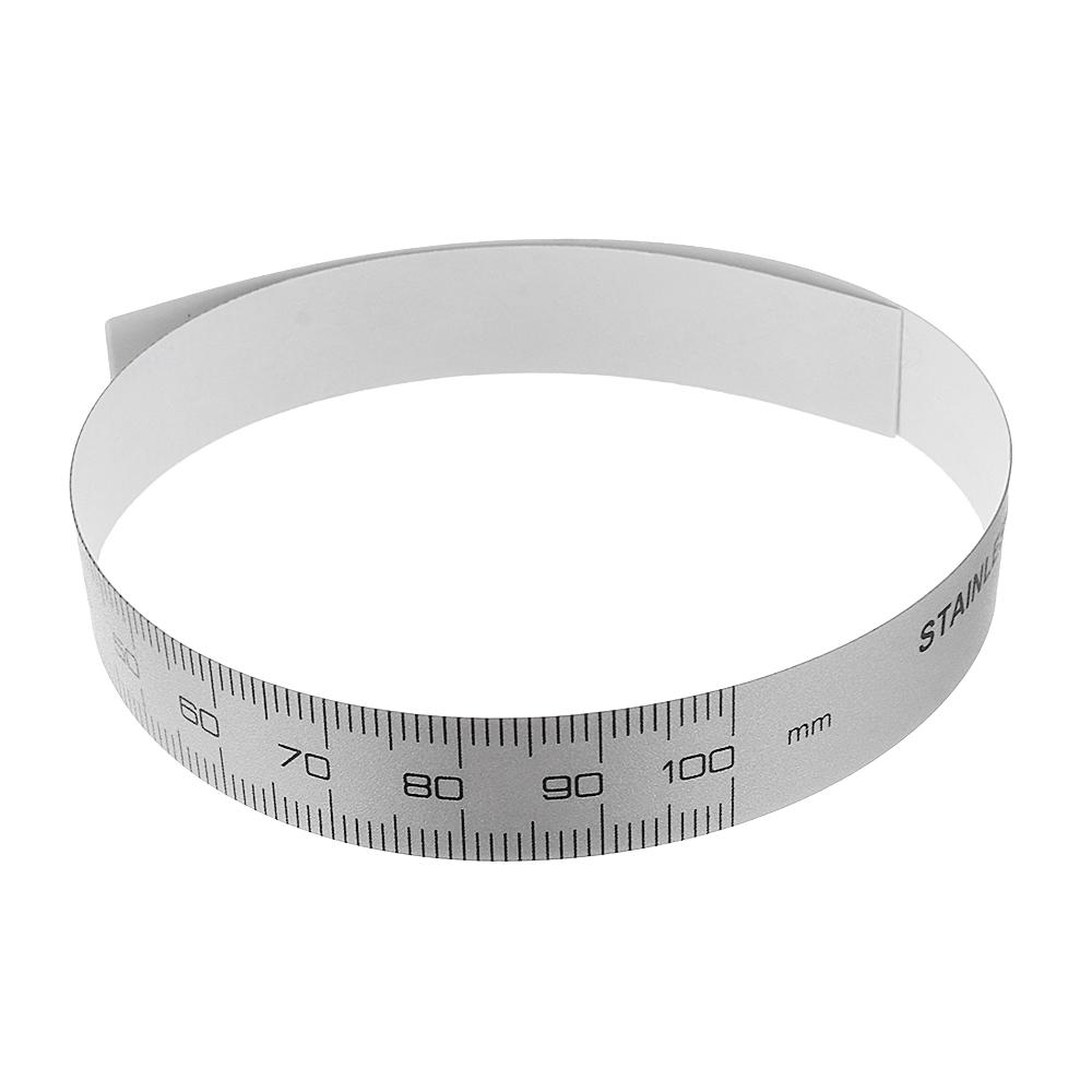 0-100/150/200/300mm Self Adhesive Metric Ruler Silver Tape for Digital Caliper Replacement