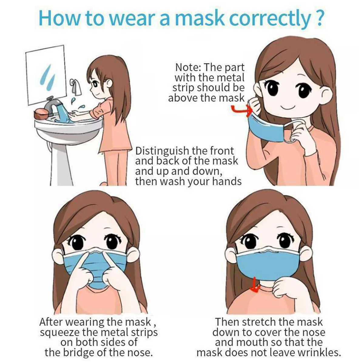 10PCS 3-Layer Protective Mask PM2.5 Breathable Face Mask Non-Woven Anti Dust Proof Disposal Mask Set