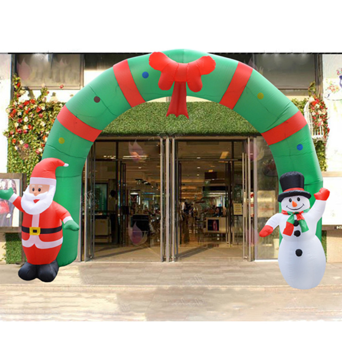 Inflatable Christmas Decorations.250cm Huge Inflatable Christmas Arch Archwaysanta Snowman Indoor Outdoor Decorations