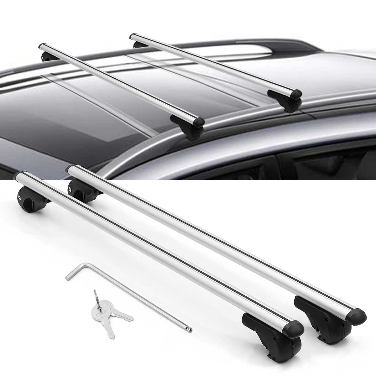 For Toyota Corolla Camry 120cm Car Roof Rack Cross Bar Top Luggage Carrier Pair