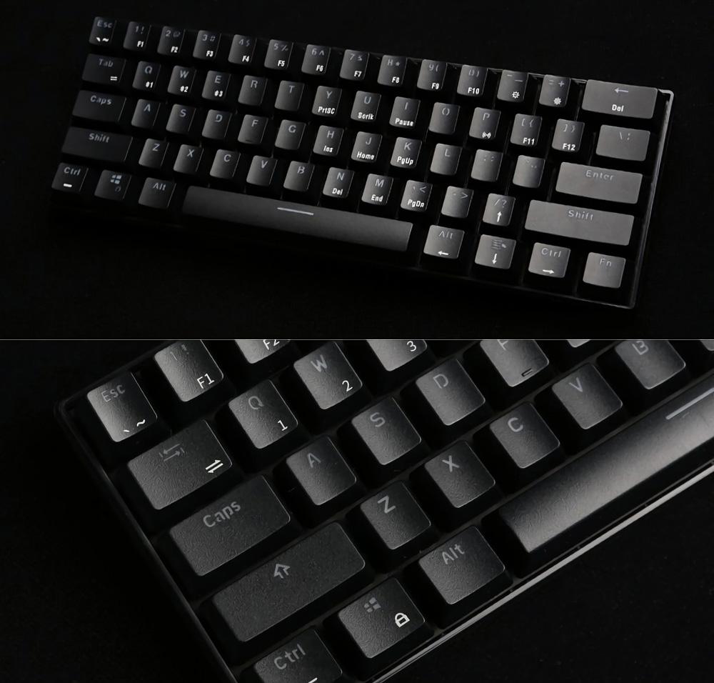 Royal Kludge RK61 bluetooth Wired Dual Mode 60% RGB Mechanical Gaming  Keyboard