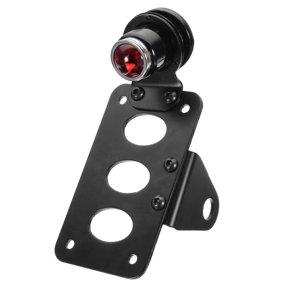 Motorrad SidE Mount LED Nummernschild Rücklicht mit Halterung für Harley Sportster
