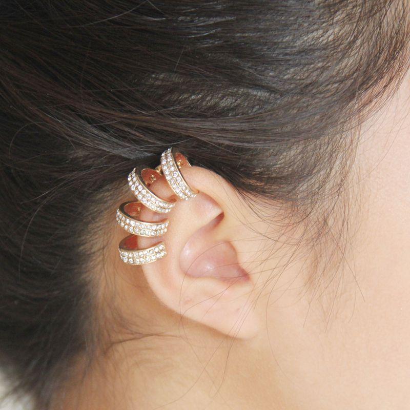 Мода без пирсинга Уши Клип женский Ушиring Блестящий бриллиант