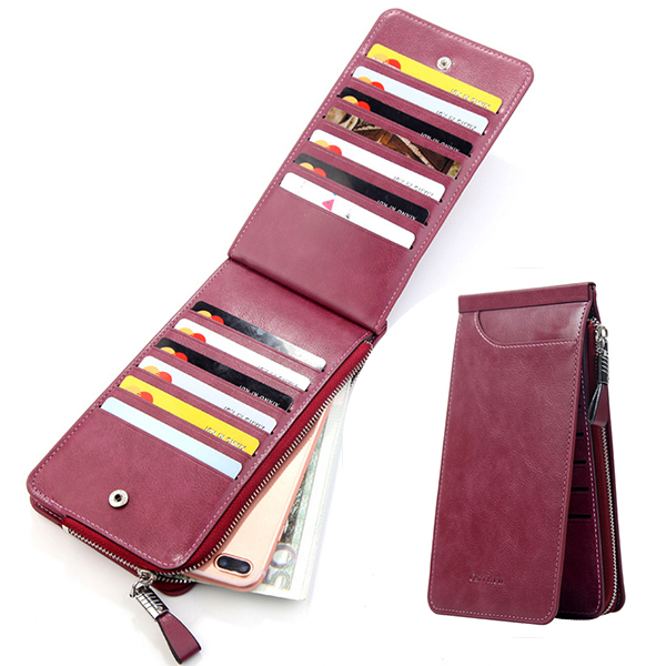 Trifold Men And Women Ultra-thin 26 Card Slot Wallet