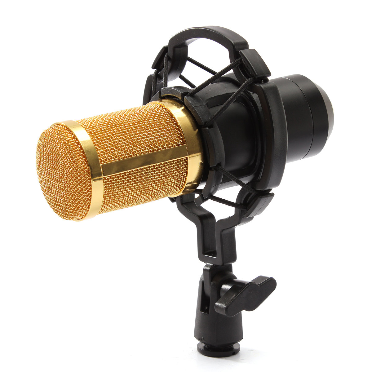 BM800 Recording Dynamic Condenser Microphone with Shock Mount – Black