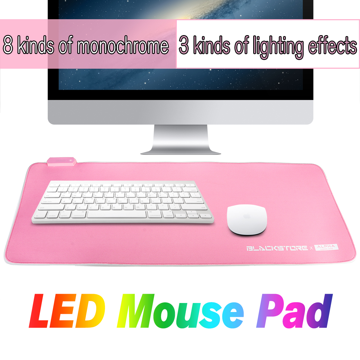 8b5eafba93a 790*300*4mm usb wired led light large soft rubber mouse pad desktop ...